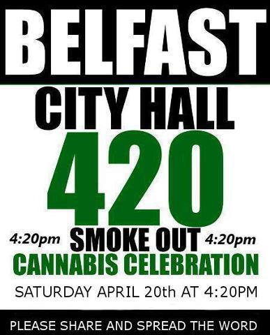belfast city hall 420 cannabis celebration smoke out northern ireland