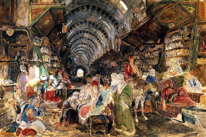 High times: in Drug Bazaar, Constantinople, John Frederick Lewis
