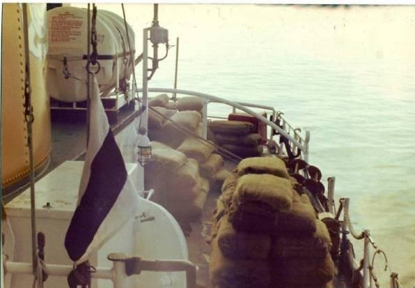 bails of ganja at sea