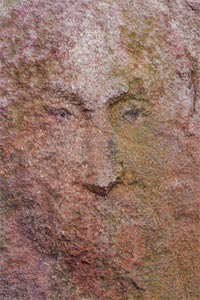 jesus face on slab brick of hashish cananbis
