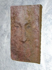 jesus face on slab of hashish