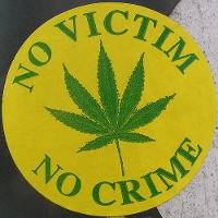 cannabis no victim no crime logo
