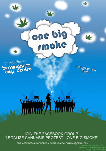 one big smoke birmingham cannabis protest