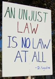 unjust law is no law at all